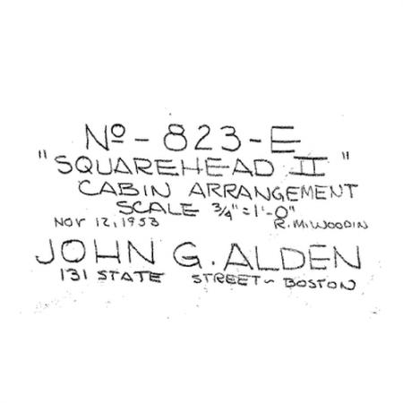 823-e squarehead II cabin arrangement