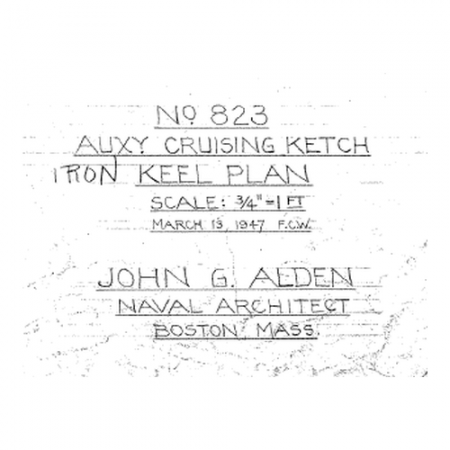823 iron keel plan