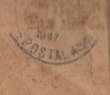 alden envelope postmark
